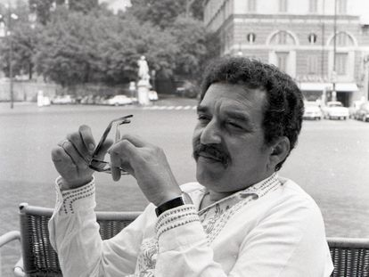 Gabriel García Márquez, en Roma, en 1969.