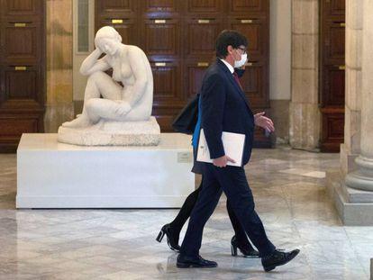 Salvador Illa en la segunda sesión de investidura del Parlament.