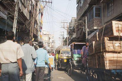 Una calle en Patna, Bihar (India), donde se ha disparado el secuestro de hombres
