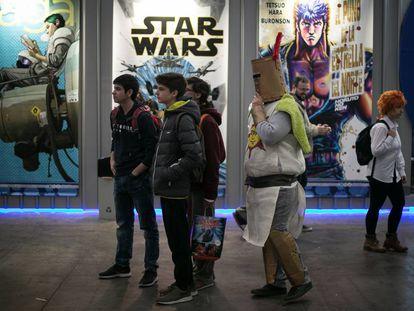 Ambiente en la 37 ªedicion del salon del comic de Barcelona.