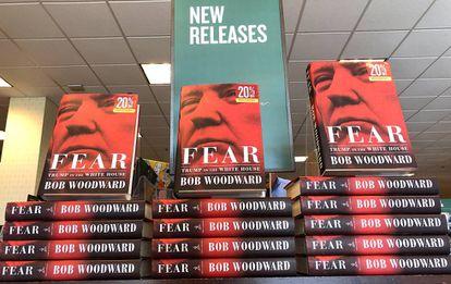 El libro 'Fear. Trump in the White House', del periodista BobWoodward, expuesto en la librería Barnes and Noble, de Corte Madera en California.