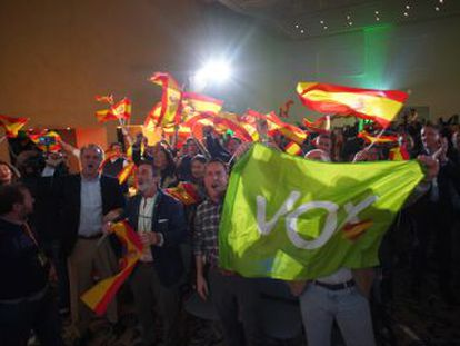 Con el 99,7% del voto escrutado, la formación de Santiago Abascal entra por primera vez en un Parlamento español