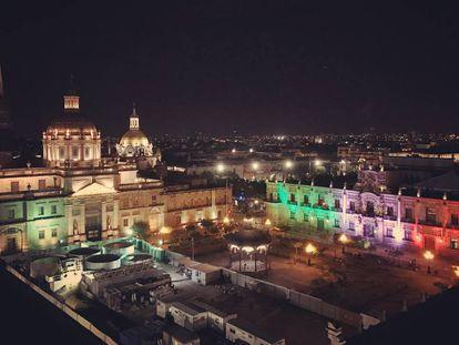 Centro histórico de Guadalajara, capital tecnológica en México.