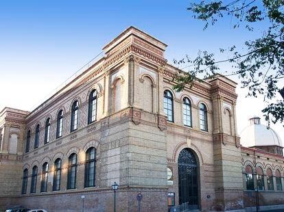 Entrada principal del Museo Nacional de Ciencias Naturales, en Madrid.