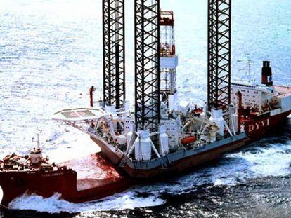 Foto de archivo de la plataforma Kólskoye, que se hundió esta madrugada en el mar de Ojotsk.