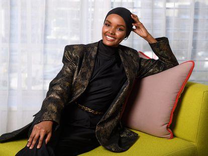 La modelo somalí-estadounidense Halima Aden en Sídney en 2019.
