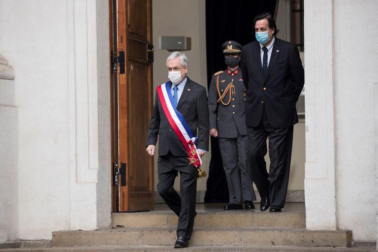 El presidente de Chile, Sebastián Piñera, en el palacio de La Moneda, este viernes.