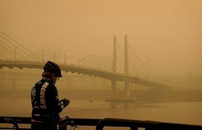 Una nube de contaminación por los incendios sobre Portland, Oregón, el pasado 12 de septiembre.