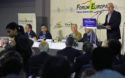 Antonio Montiel, durante su intervención en el Forum Europa.