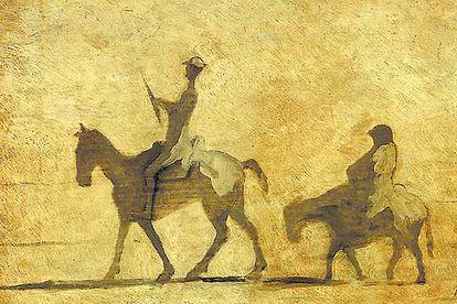 Don Quijote y Sancho Panza vistos por Honoré Daumier (1808-1879).