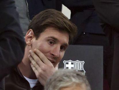 Messi, en el Camp Nou en el partido ante el Rayo el sábado.