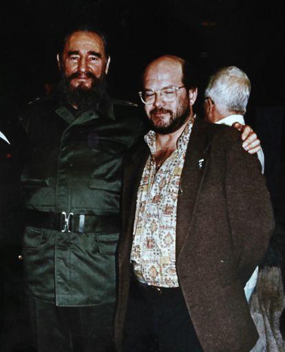 Paco Lucena con Fidel Castro en La Habana en 1994, en una de las tres veces que se encontraron.  Foto cortesía de Paco Lucena.