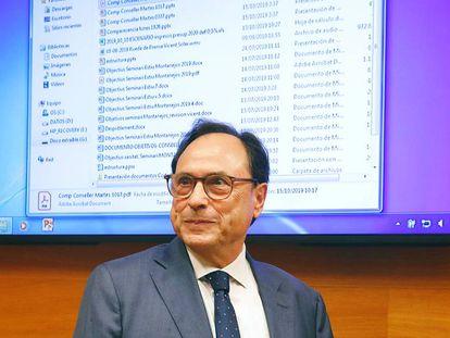 El consejero de Hacienda, Vicent Soler, en una imagen del pasado año.