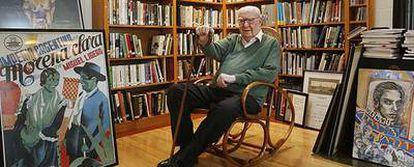 José Luis Borau, fotografiado el miércoles en su casa de Madrid.