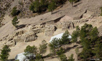 Una imagen de la fortaleza hallada en La Bastida, Murcia.