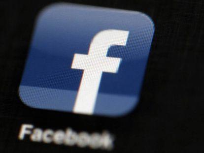 El logo de Facebook en un iPad.