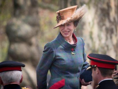 Ana de Inglaterra, en la celebración del 93º cumpleaños de Isabel II en Londres.