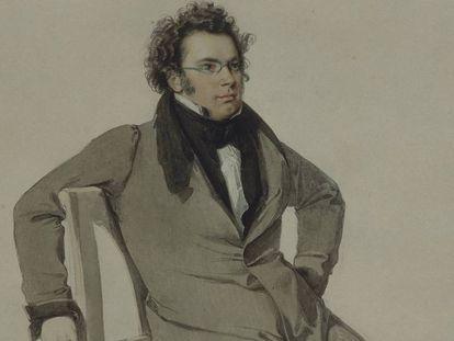 Retrato sin datar de Schubert. En vídeo, cómo se completo la 'Sinfonía inacabada'.