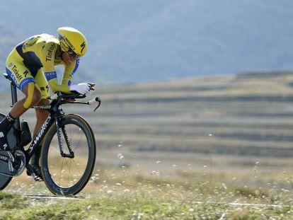 Alberto Contador, en una contrarreloj de la Vuelta España 2014.