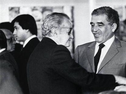 Juan Rulfo y Gabriel García Márquez, en una fotografía de 1982.