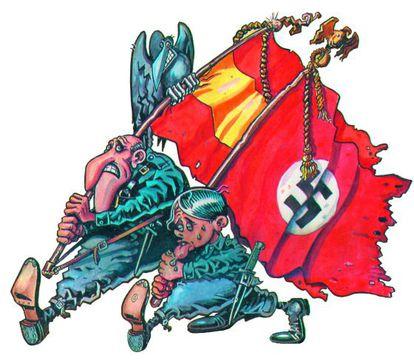 Martínez el Facha y Adolfito, personajes creados por Kim para 'El Jueves'.