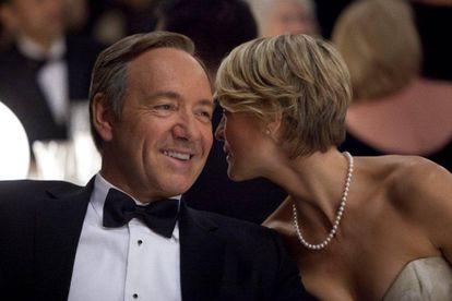 Frank y Claire Underwood, protagonizados por Kevin Spacey y Roben Wright.