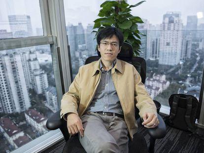Zhu, en su despacho de Shanghái.