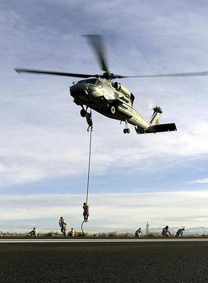 Imagen de un entrenamiento de los Navy Seals en la base de Coronado, en California (EE UU).