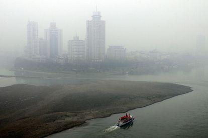 Imagen de Leshan, provincia de Sichuan, un día cualquiera.