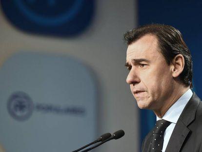 El coordinador general del PP, Fernando Martínez Maíllo, durante una rueda de prensa.