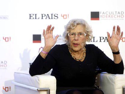 Manuela Carmena, en el foro Sociedad civil y cambio global.