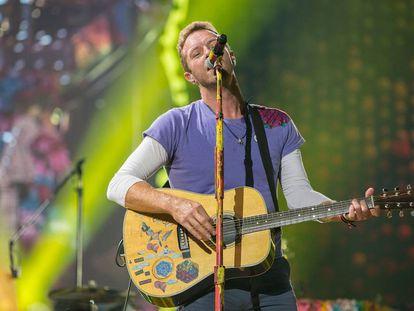 El líder de Coldplay, Chris Martin, en un concierto celebrado en San Diego, California, en 2017.