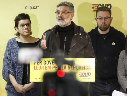 Los cuatro diputados de la CUP, en una imagen de archivo.