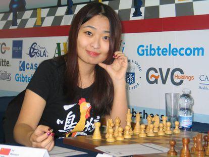 Wenjun Ju, durante el Abierto de Gibraltar de 2017