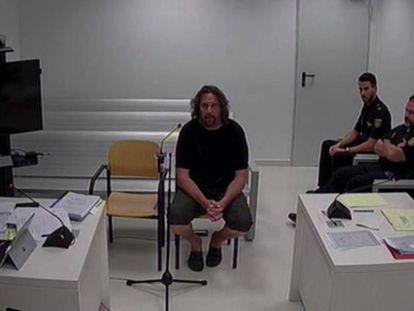 Xavier Buigas, uno de los 'cdr' detenidos, durante su declaración en la Audiencia Nacional.