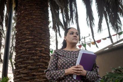 Mariel Albarrán, en Ciudad de México el pasado 17 de marzo.