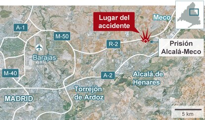 Lugar del accidente del avión C-101