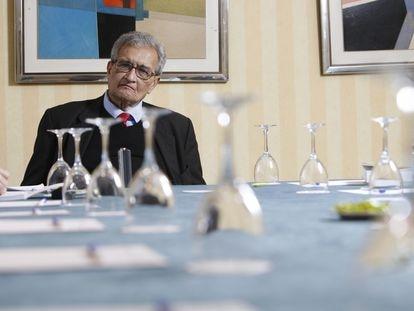Amartya Sen, en una intervención en la Facultad de Ciencias Económicas y Empresariales de la Complutense en Somosaguas (Madrid).