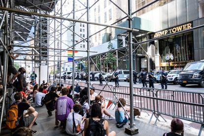 Protestas por la muerte de George Floyd en Nueva York, frente a la torre Trump, el pasado 5 de julio.