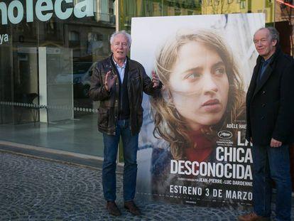 Los cineastas Luc y Jean-Pierre Dardenne en la Filmoteca de Cataluña.