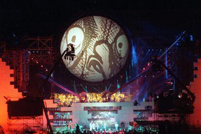 Imagen del concierto de <i>The Wall, </i>de Pink Floyd, en Berlín en 1990.