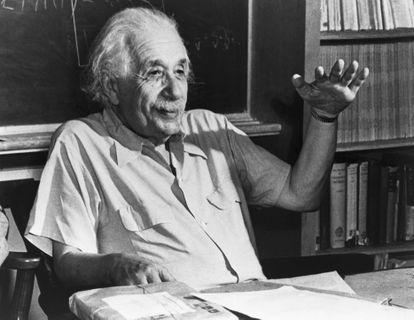 Albert Einstein in a loaned image.