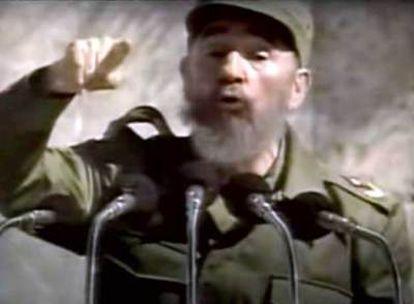 Imagen de Fidel Castro en el anuncio de AI.