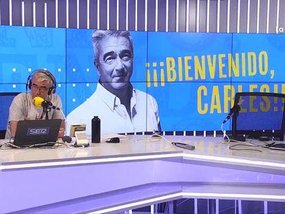 Carles Francino, este lunes en su regreso a la radio tras superar la covid.