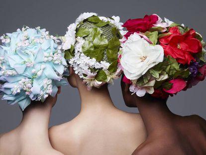 Tocados de Dior de 1970 y 1965,