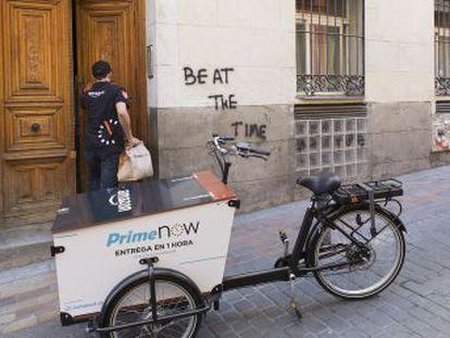 Prime Now, que repartirá en una hora, estará disponible en Madrid y en 21 municipios de la Comunidad. Distribuirá productos frescos, congelados y hasta 18.000 referencias más