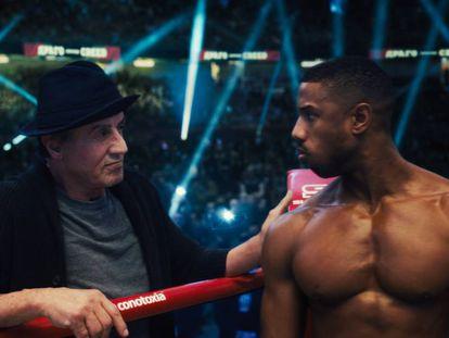 Sylvester Stallone y Michael B. Jordan, en 'Creed II: la leyenda de Rocky'.