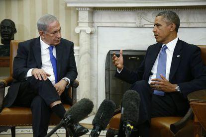 Barack Obama y Benjamín Netanyahu en una foto de septiembre, durante una visita del segundo a Washington.
