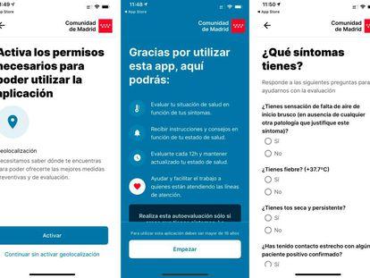 CoronaMadrid para iOS.