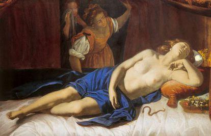 Una de las múltiples obras que la pintora romana dedicó a Cleopatra.